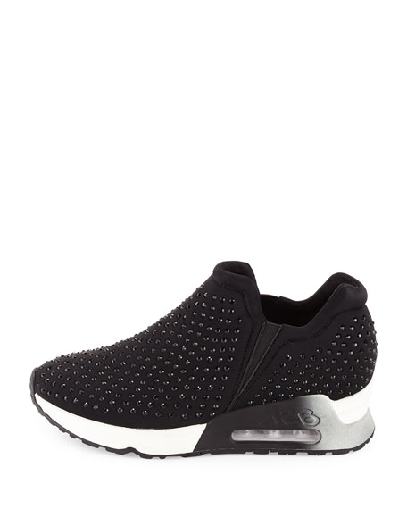 Lifting Crystal Slip-On Sneakers