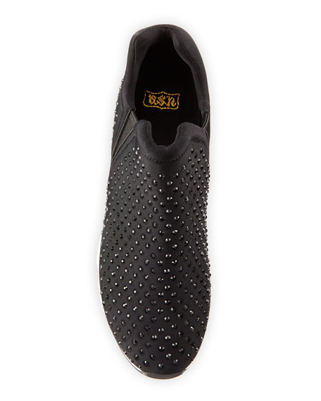 Lifting Crystal Slip-On Sneaker