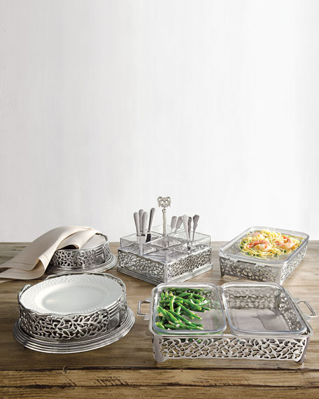 Pierced Salad Plate Holder