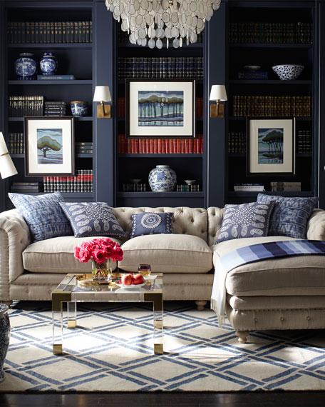 "Warner Linen Collection 90"" Sofa"