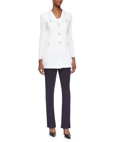 Dressed Up Button-Front Jacket & Casey Boot-Cut Pants