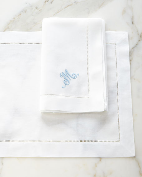 Neimanmarcus 12 Hemstitch Dinner Napkins