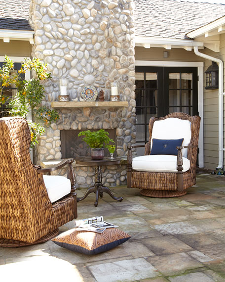 Royal Plantation Outdoor Swivel Glider Chair