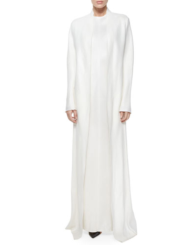 Nalaton Full Length Coat & Sista Sleeveless Gown