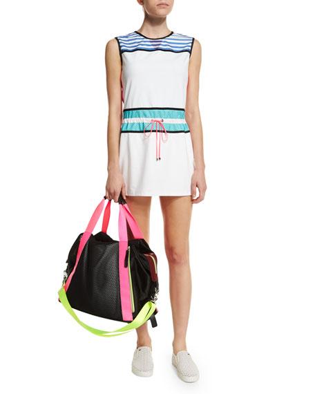 Monreal London Sleeveless Drawstring-Waist Signature Sport Dress,