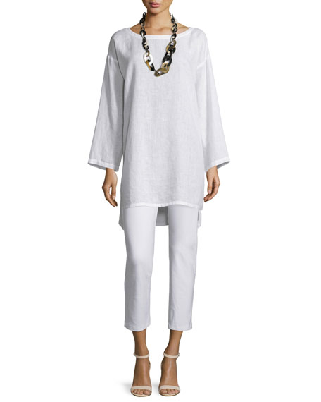 Eileen Fisher Organic Linen Long Tunic, Plus Size
