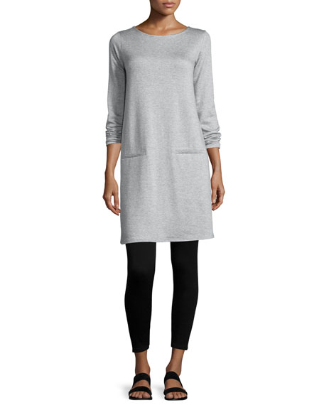 Eileen Fisher Long-Sleeve Fleece Tunic, Petite