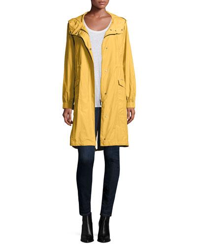 Eileen Fisher Hooded Long Anorak Jacket, Jersey Long