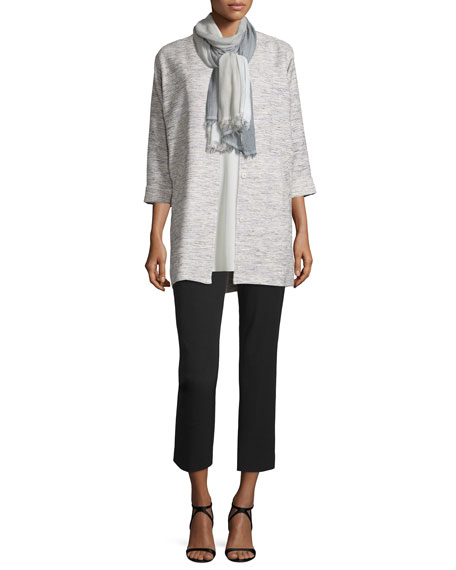 Eileen Fisher Woven Twist Long Jacket