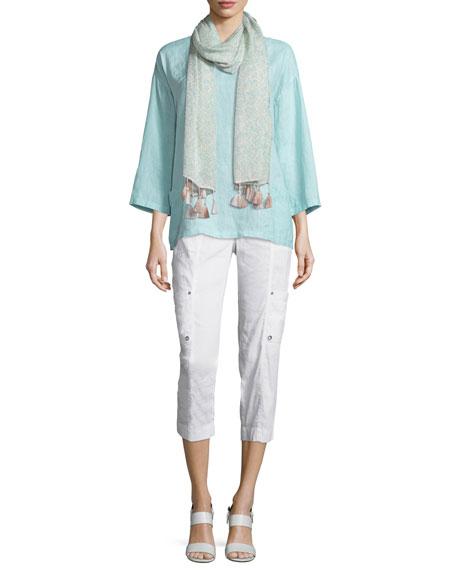 Eileen Fisher Organic Handkerchief Linen Tunic w/ Pockets,