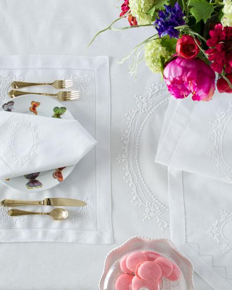 Boutross Imports Italian Crest Dinner Napkins, Set of 4