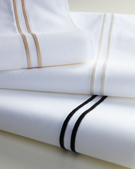 Queen 200 Thread-Count Solid White Resort Fitted Sheet
