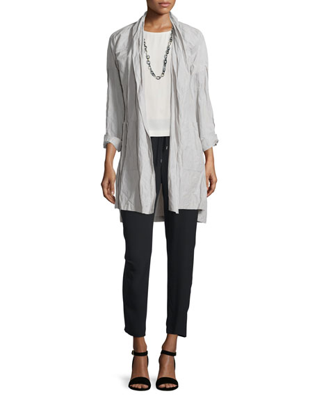 Eileen Fisher Rumpled Kimono Coat, Silver