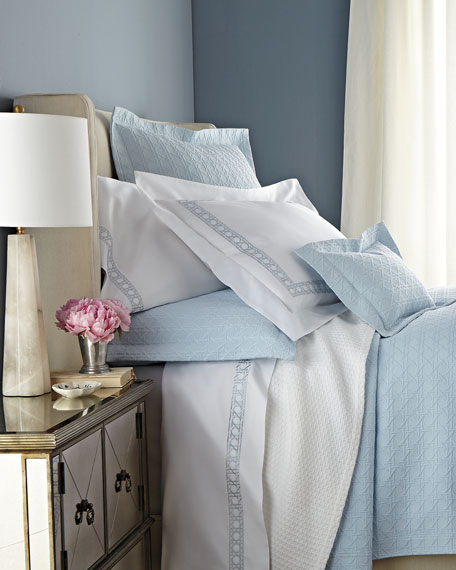 King 4-Piece Cane-Embroidered 400TC Sheet Set