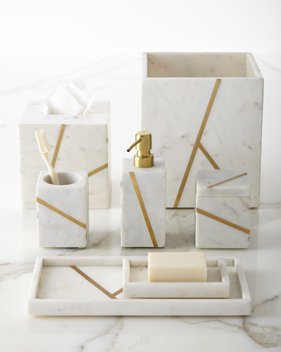 Marble Brass Vanity Accessories