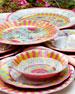 Florabundance Melamine Salad Plates, Set of 4