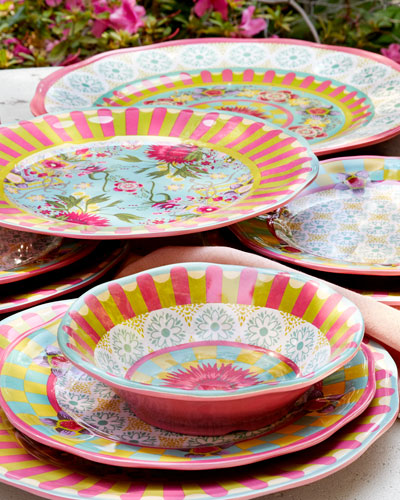 Florabundance Salad Plates Set of 4 and Matching Items : mackenzie dinnerware - pezcame.com