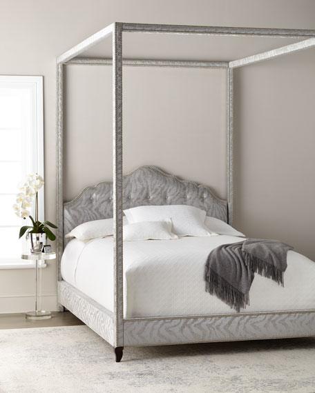 Haute House Athena Zebra Queen Canopy Bed