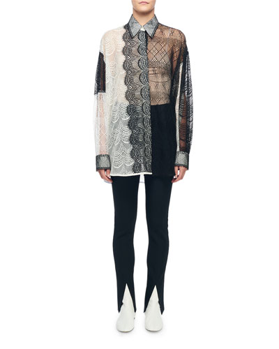 Long-Sleeve Oversized Lace Top and Matching Items
