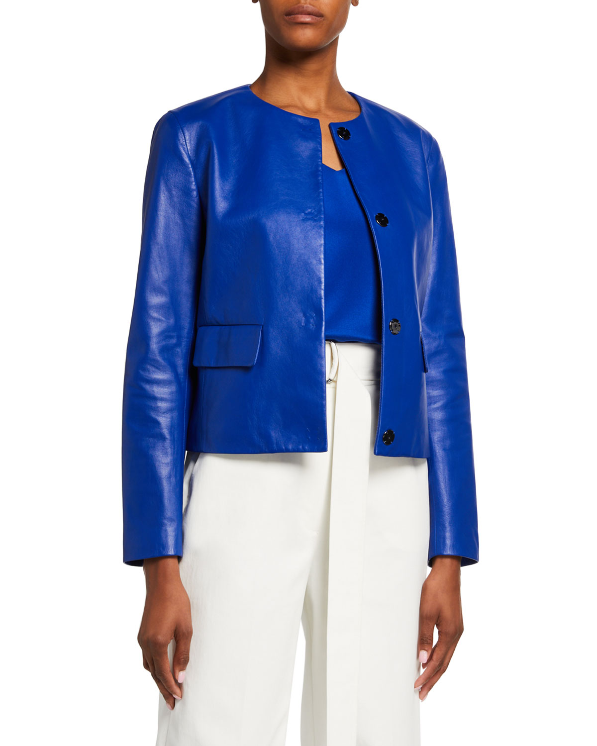 St. John Collection Ultimate Napa Leather Jacket