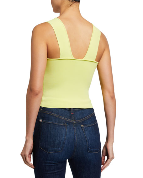 Image 2 of 2: Alice + Olivia Rashida Square-Neck Cropped Tank