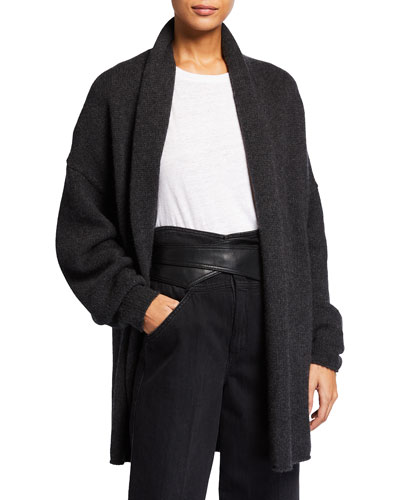 TSE for Neiman Marcus Long Recycled Cashmere Cardigan
