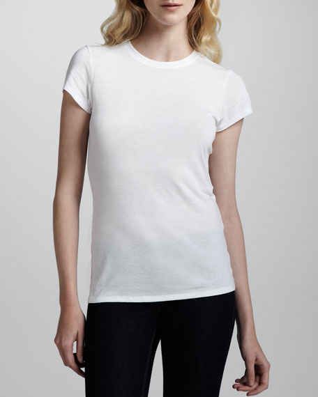 VinceBasic Tee, White