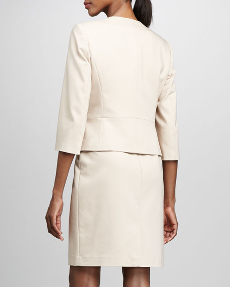 Albert Nipon Belted Sheath Dress & Jacket Set