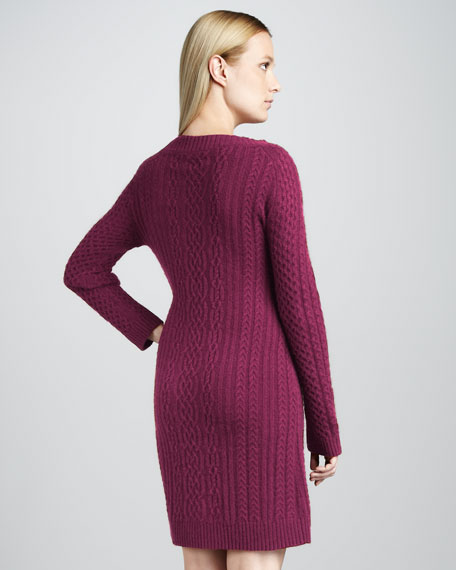 Cable-Knit Cashmere Dress