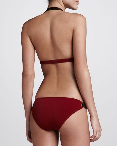 Buckled Halter Bikini, Cinnabar