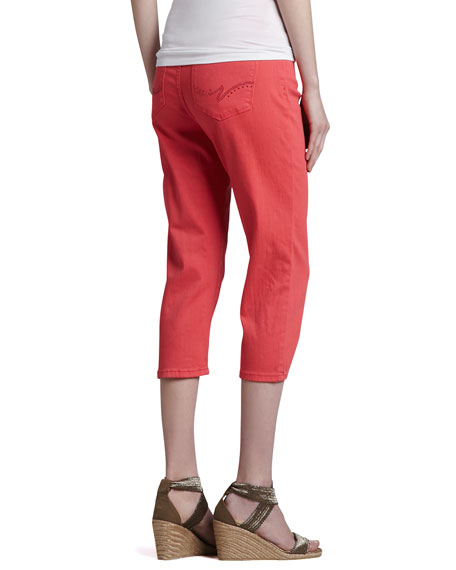 Ariel Bling-Pocket Cropped Jeans, Women's