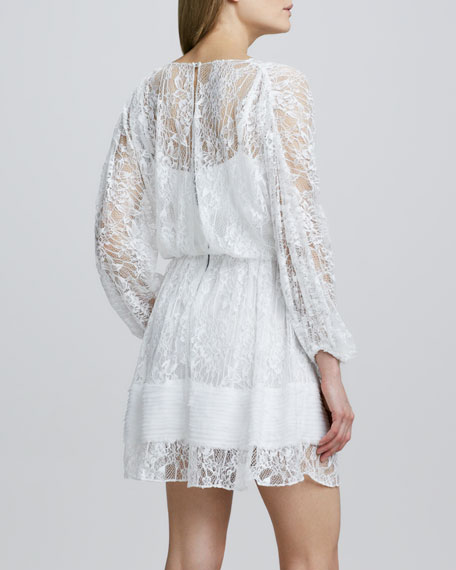 Julia Lace-Overlay Dress