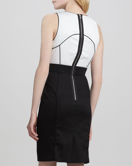 Rubi Two-Tone Fitted Dress