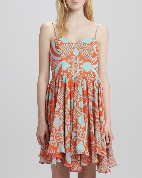 Gemma Tribal-Print Dress