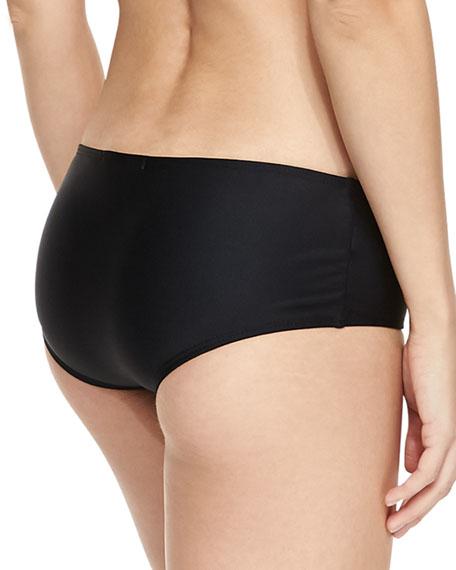 UPF 50 Hipster Swim Bikini Bottom, Black