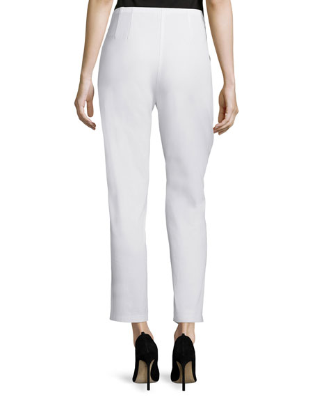 Organic Stretch Twill Slim Ankle Pants, Plus Size