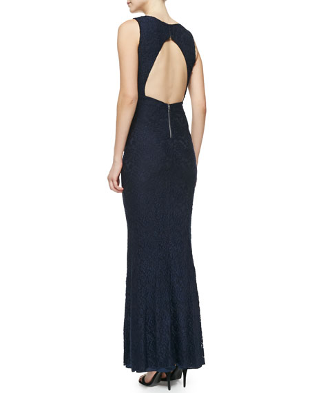 Sachi Open-Back Lace Gown