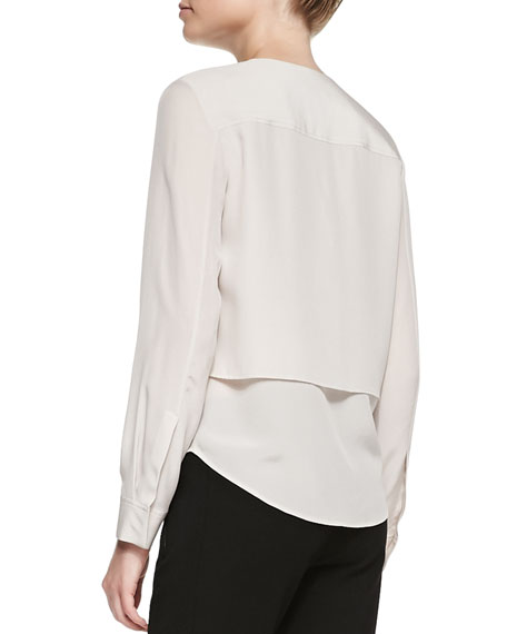 Theory Gentalla Layered Double-Georgette Top