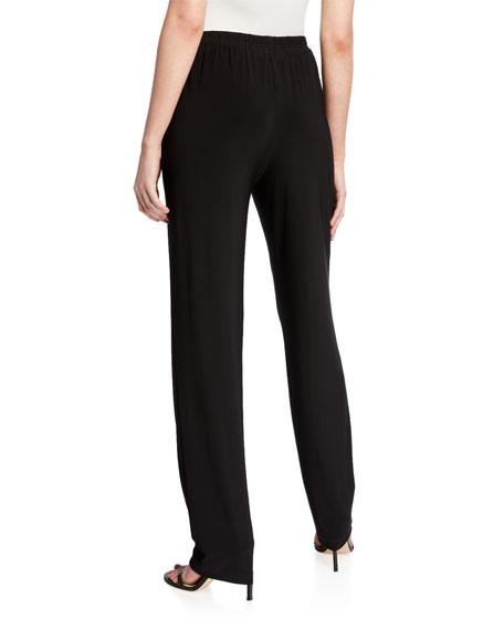 Stretch-Knit Straight-Leg Pants