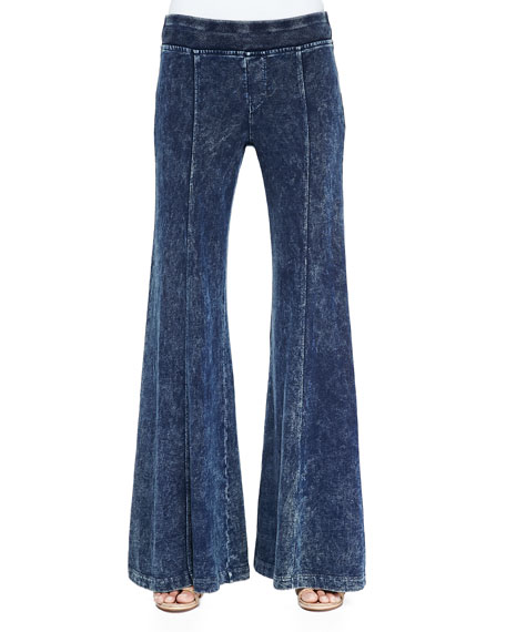 French Terry Wide-Leg Pants