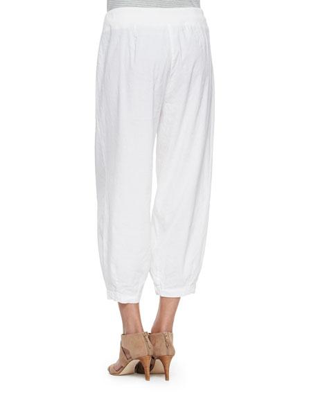 Drawstring-Waist Slouchy Capri Pants