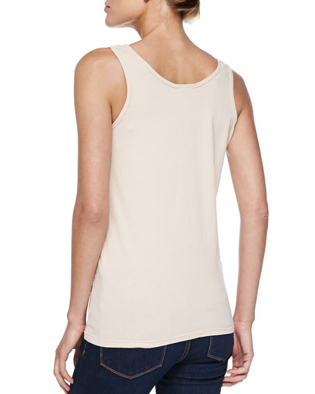 Scoop-Neck Cotton Tank, Plus Size