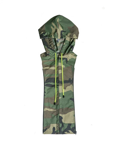 Camo-Print Hooded Dickey