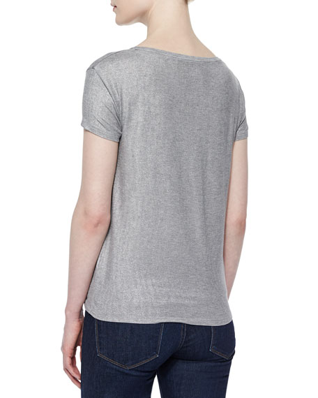 Soft Touch Short-Sleeve Metallic Tee