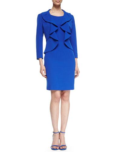 Structured Crepe Dress Suit