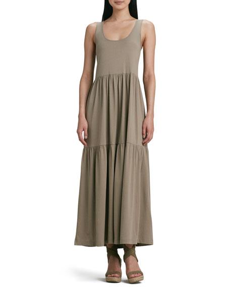 Joan Vass Petite Tiered Long Tank Dress