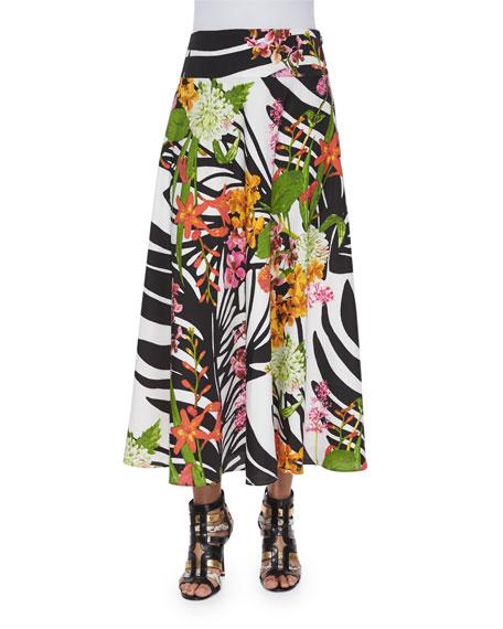 Indikka Botanical Garden Printed Maxi Skirt