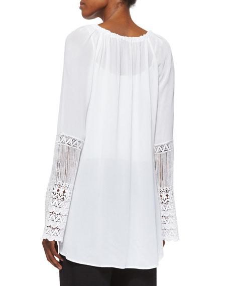 St. Barts Tunic W/ Crochet Sleeves