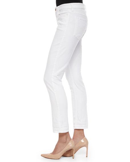 Slim Ankle Jeans, White