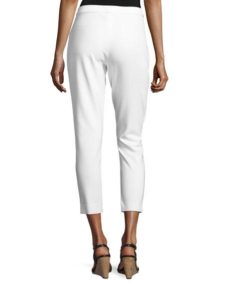Ponte Slim Ankle Pants, Plus Size